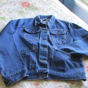 Vintage! Wrangler Denim Jacket, Sz. Small